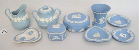 9 Wedgwood Porcelain Articles  Condition good with no
