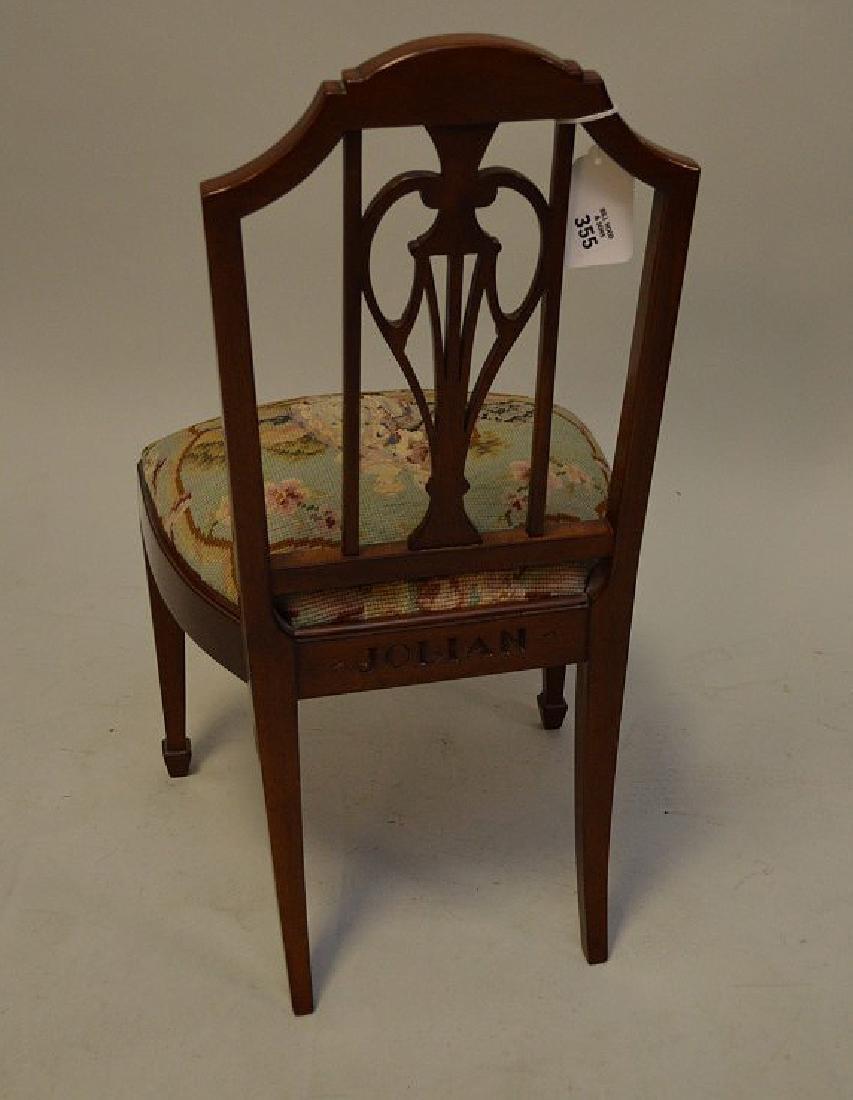 Mahogany child's chair  needlepoint by Smith & Watson - 5