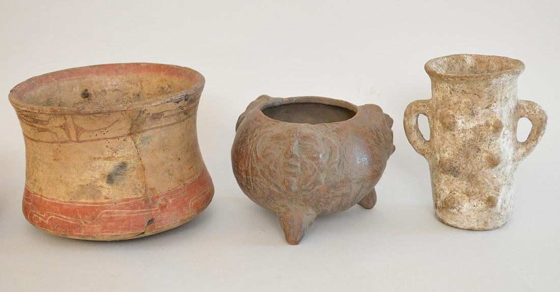 LOT OF 5 PRE-COLUMBIAN POTTERY VESSELS - Mexico and - 2