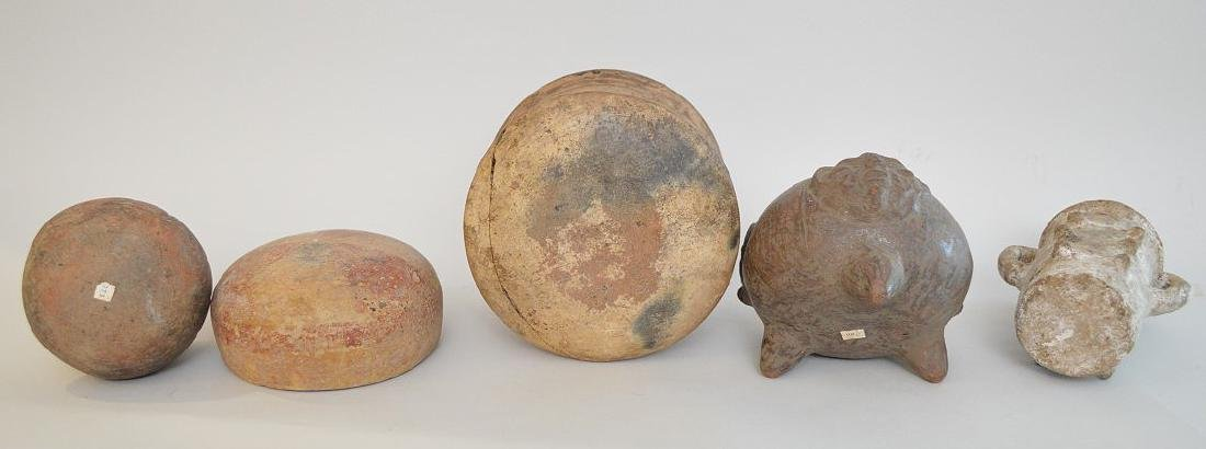 LOT OF 5 PRE-COLUMBIAN POTTERY VESSELS - Mexico and - 5