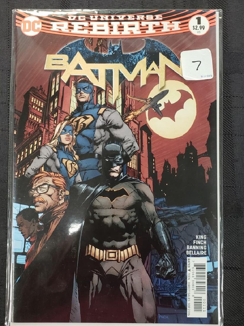 "DC Universe ""Rebirth Batman"" Sept. 2016 #1; Condition:"