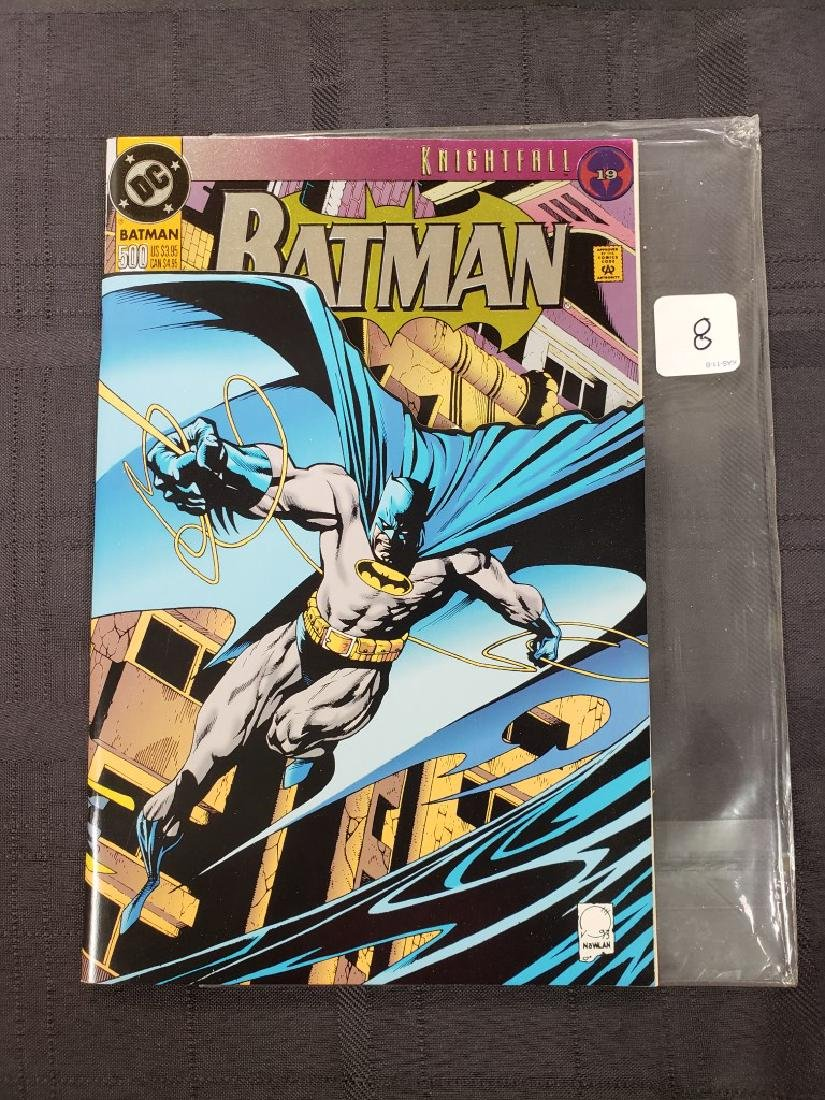 "DC Comic ""Batman 500 Knightfall"" Oct. 1993 features"