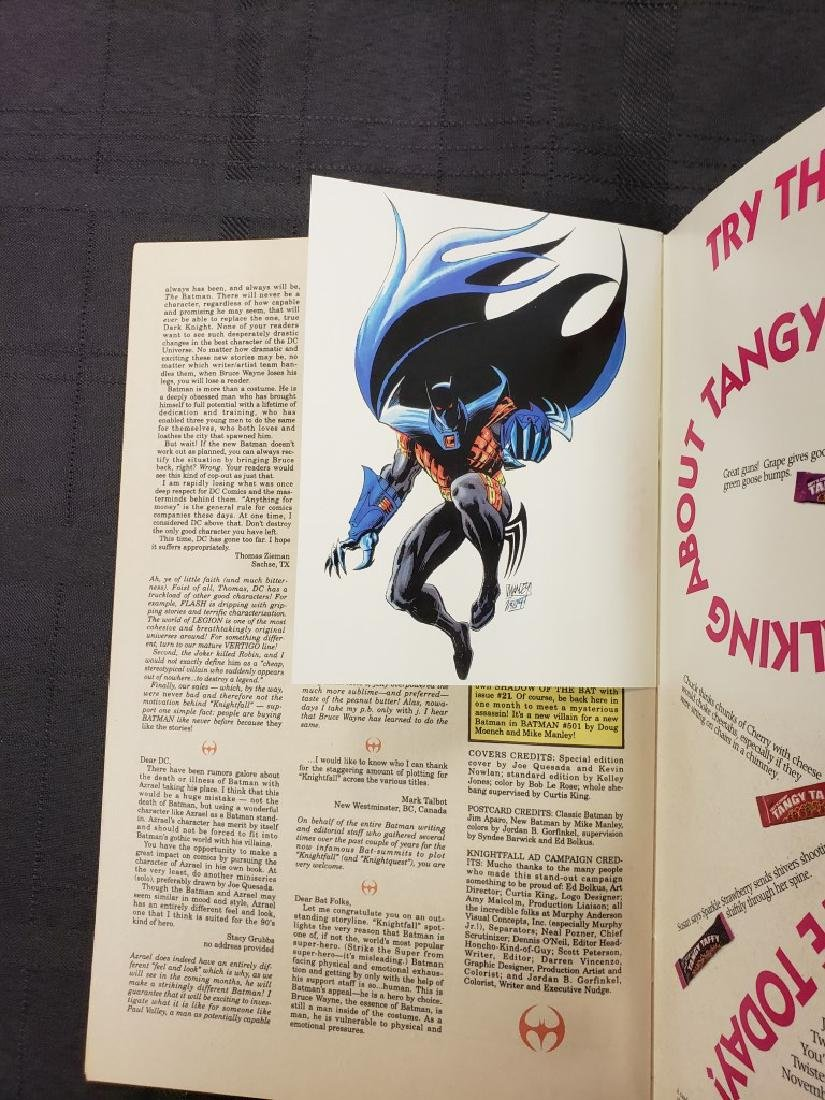 "DC Comic ""Batman 500 Knightfall"" Oct. 1993 features - 4"