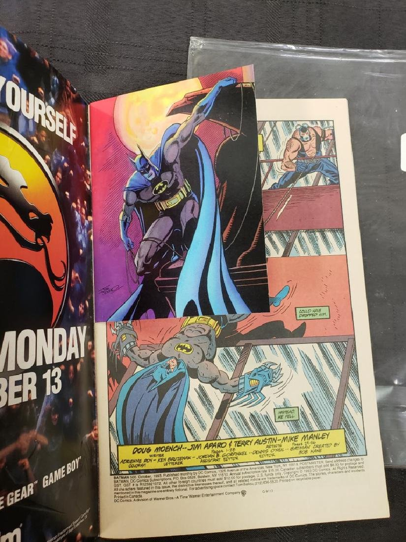 "DC Comic ""Batman 500 Knightfall"" Oct. 1993 features - 5"