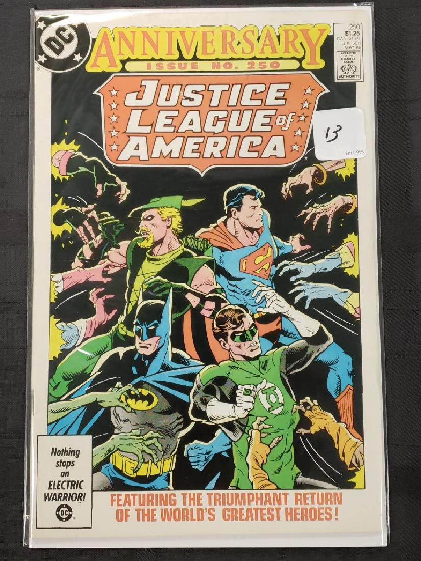 "DC Comics Anniversary Issue #250 ""Justice League of"