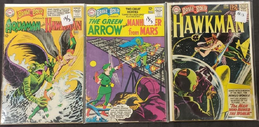 "Lot of Three DC Comics ""Aquaman & Hawkman"" Jan. 1951,"