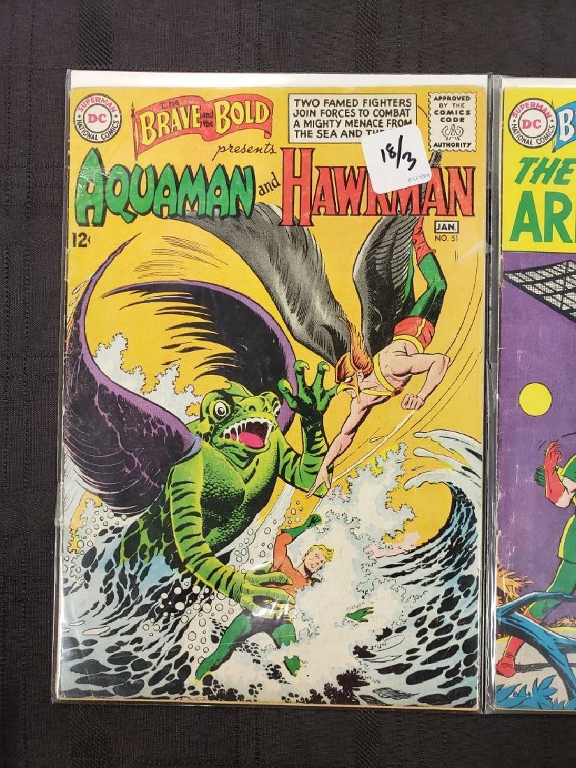 "Lot of Three DC Comics ""Aquaman & Hawkman"" Jan. 1951, - 2"