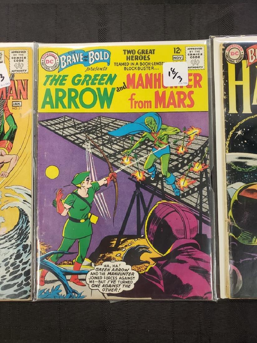 "Lot of Three DC Comics ""Aquaman & Hawkman"" Jan. 1951, - 3"