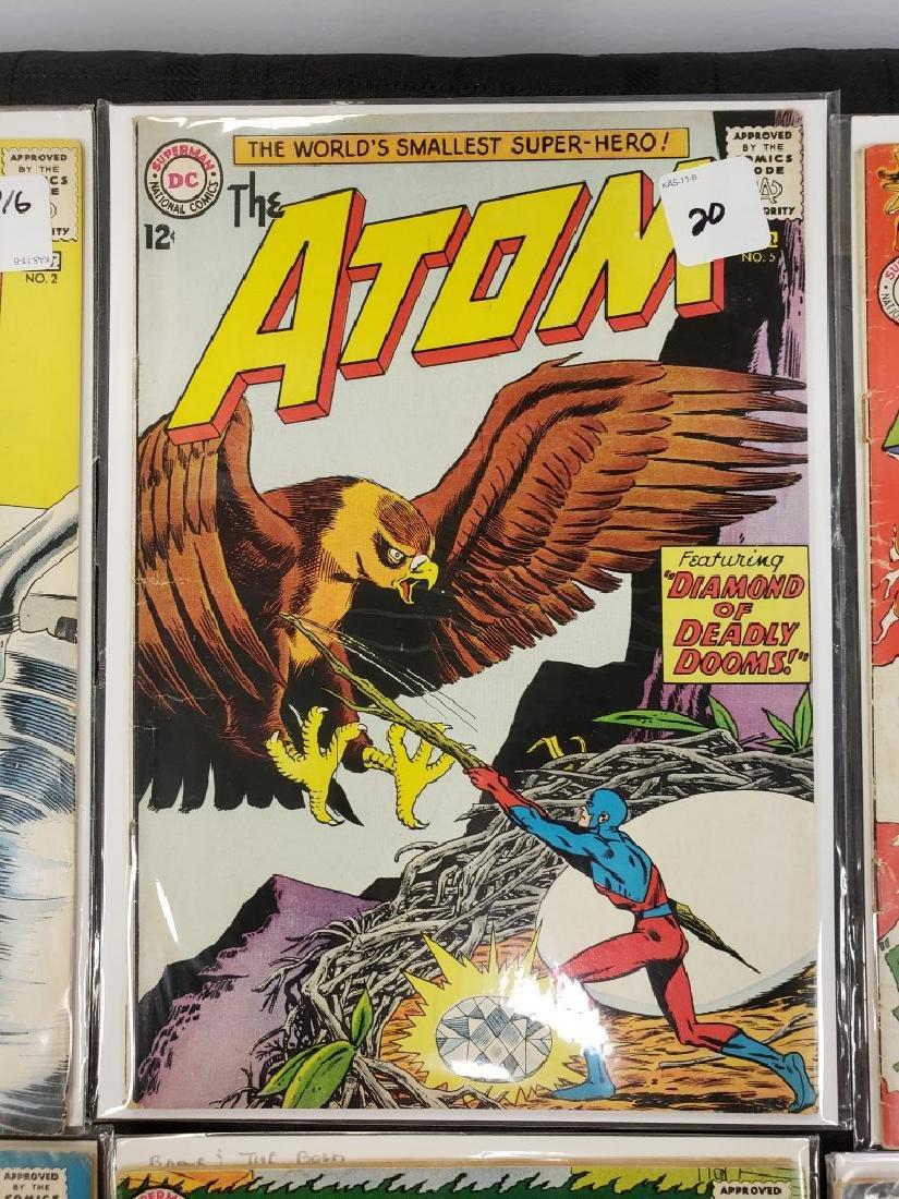 "Lot of Six DC Superman National Comics ""The Atom"" and - 3"