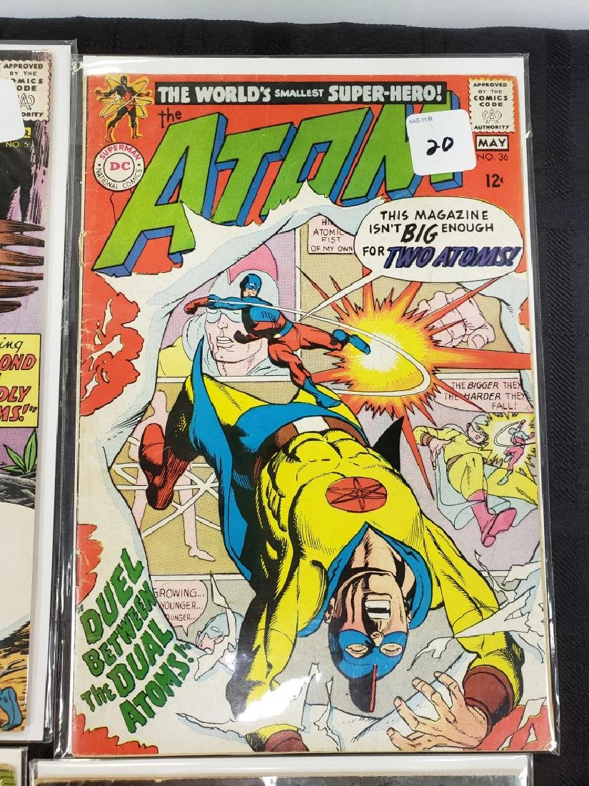"Lot of Six DC Superman National Comics ""The Atom"" and - 4"