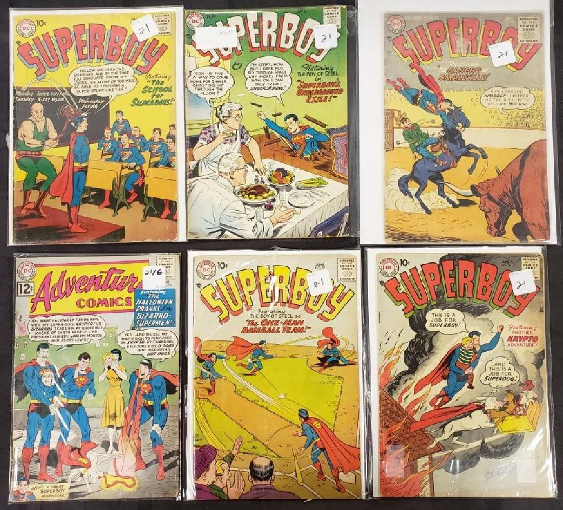 "Lot of Six DC Superman National Comics ""Superboy"";"