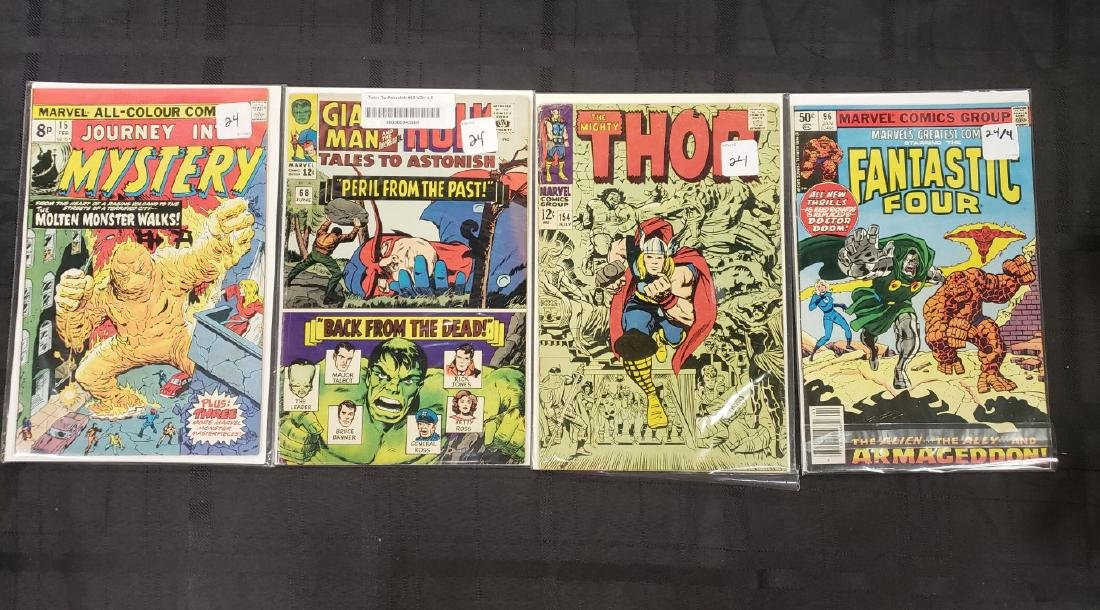 """Lot of Four Marvel Comics Group """"Journey Into Mystery"""","""