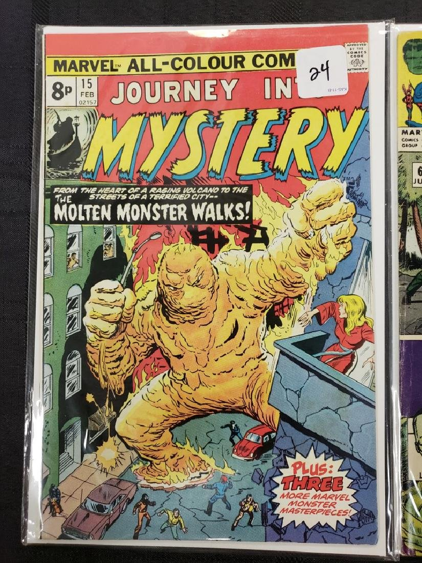 """Lot of Four Marvel Comics Group """"Journey Into Mystery"""", - 2"""