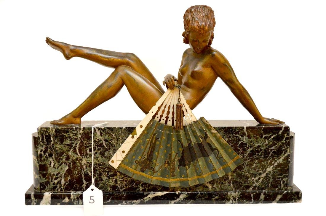 André Gilbert (French, 20th century), Seated Deco