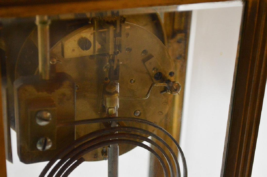 French  bronze and crystal regulator clock with hand - 9