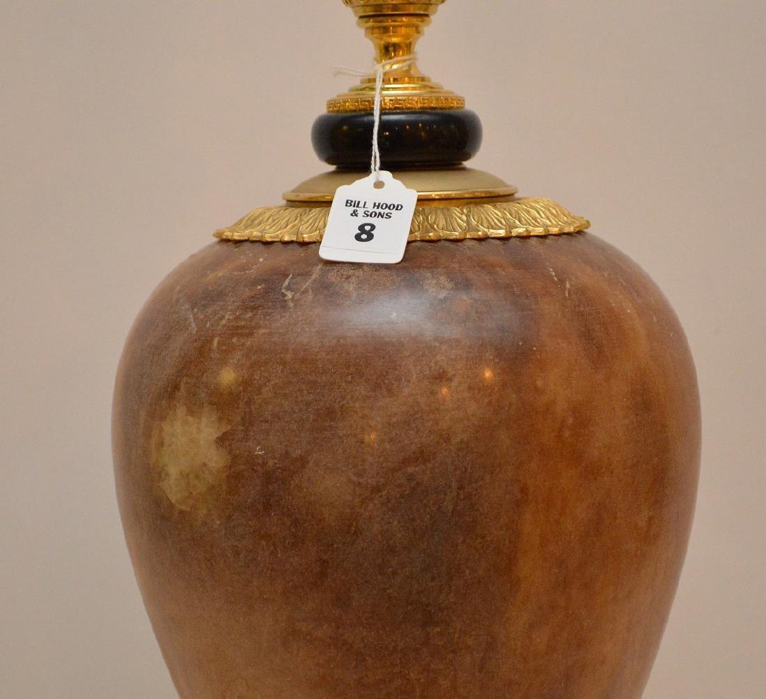 Gilt Bronze & Alabaster Urn form Lamp.  Condition: good - 2