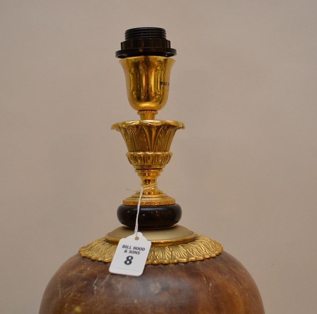 Gilt Bronze & Alabaster Urn form Lamp.  Condition: good - 4