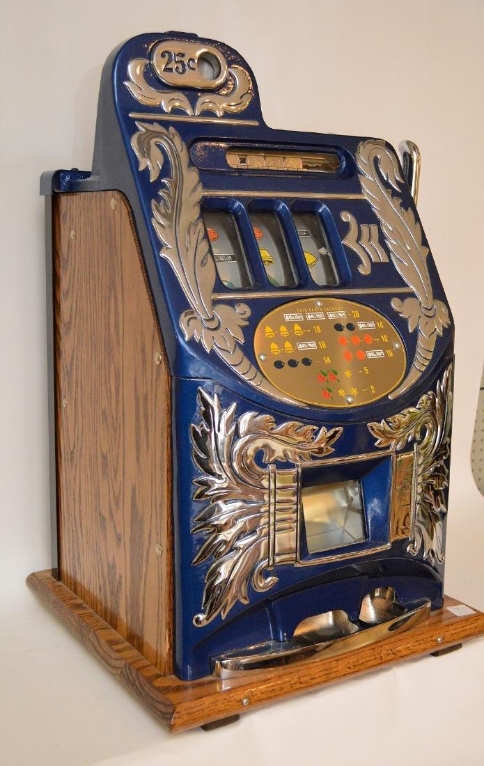 Enameled Metal & Oak Slot Machine Bell & Fruit - 10