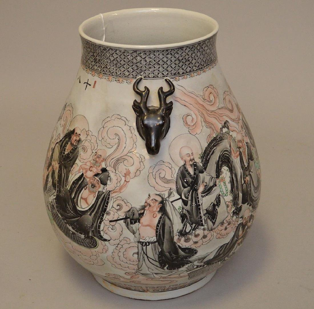 Chinese Hand painted Porcelain Vase with continuous - 4