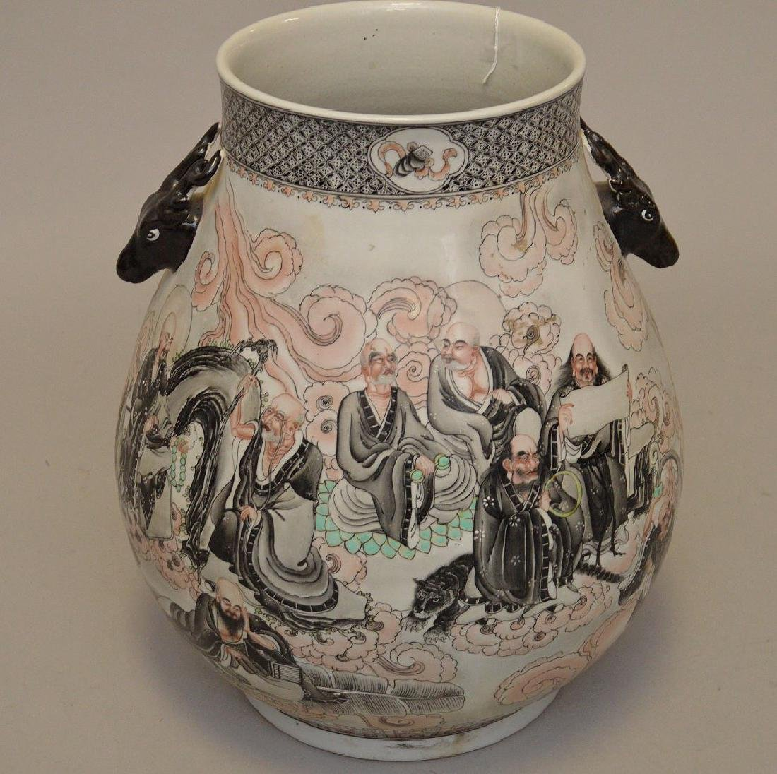 Chinese Hand painted Porcelain Vase with continuous - 5