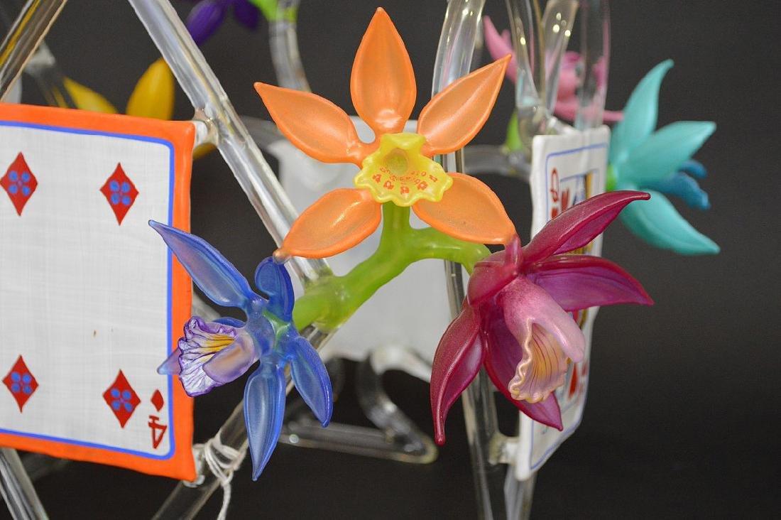 """Ginny Ruffner Glass """"High Five 4 The Queen"""" Sculpture. - 9"""