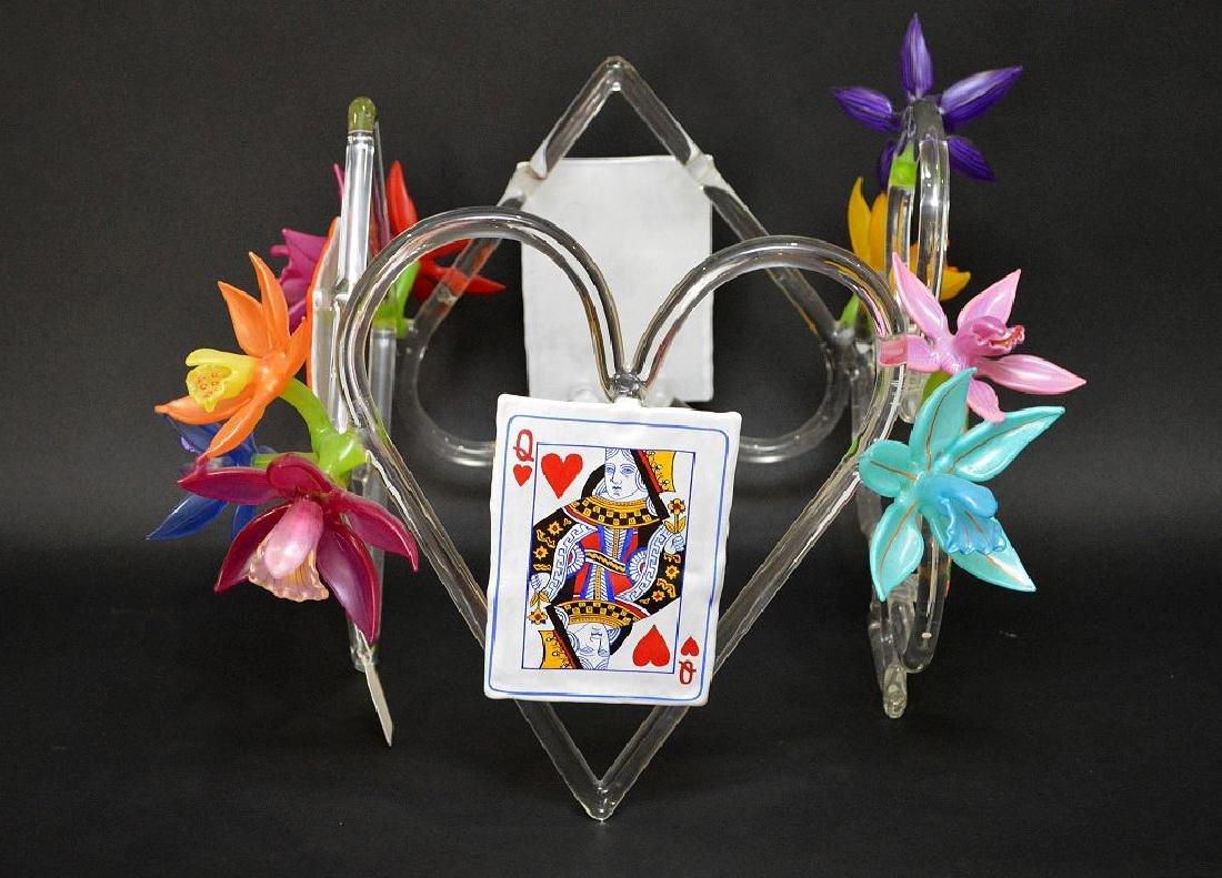 """Ginny Ruffner Glass """"High Five 4 The Queen"""" Sculpture. - 2"""