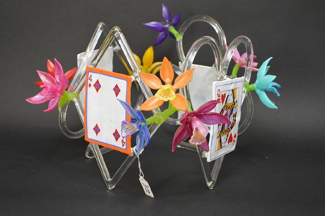 """Ginny Ruffner Glass """"High Five 4 The Queen"""" Sculpture. - 3"""