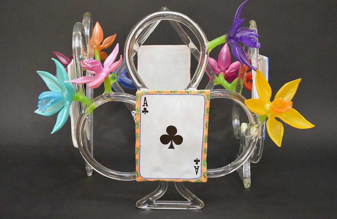 """Ginny Ruffner Glass """"High Five 4 The Queen"""" Sculpture. - 6"""
