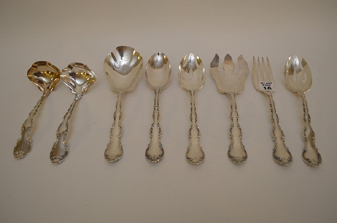Gorham Sterling Silver Strasbourg serving pieces, 22