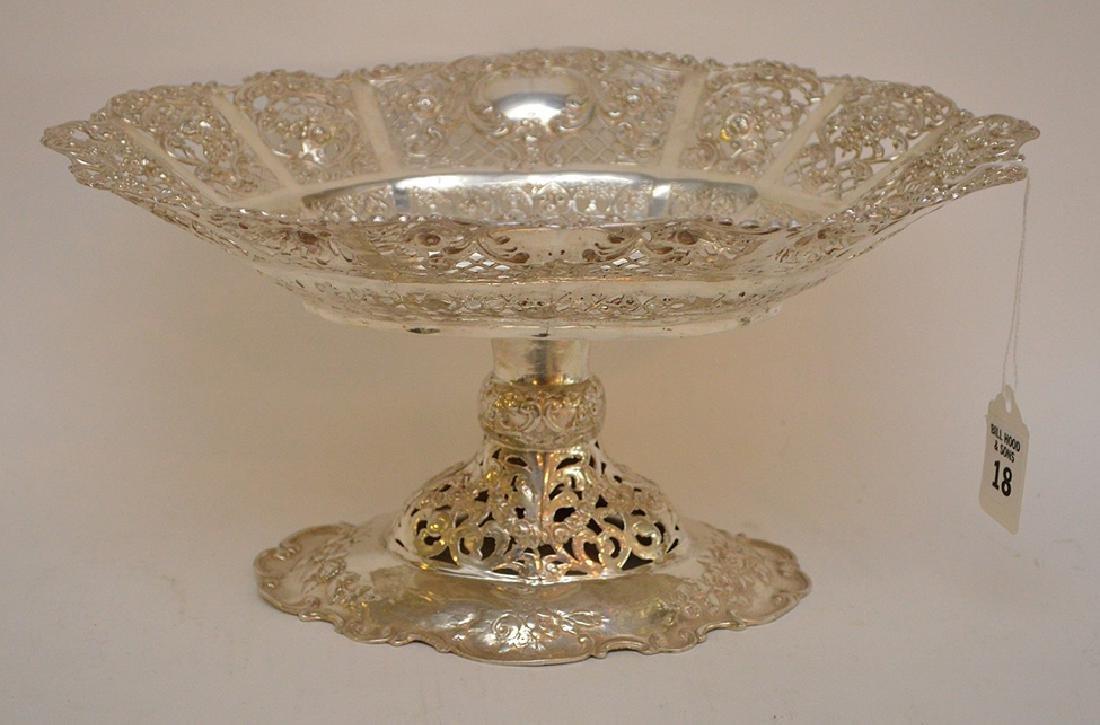 Continental 800 Silver Pierced Center Bowl.  Condition: