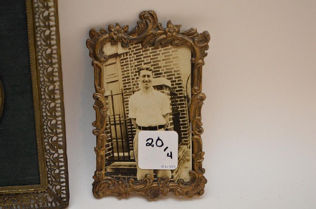 """Lot 4 Antique Gilt Metal Picture Frames.  Largest 7"""" x - 10"""