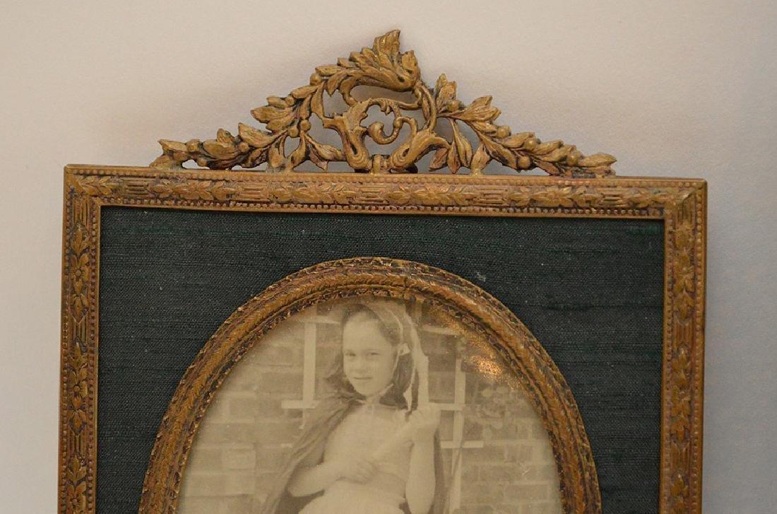 """Lot 4 Antique Gilt Metal Picture Frames.  Largest 7"""" x - 4"""