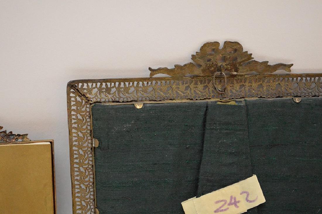 """Lot 4 Antique Gilt Metal Picture Frames.  Largest 7"""" x - 6"""