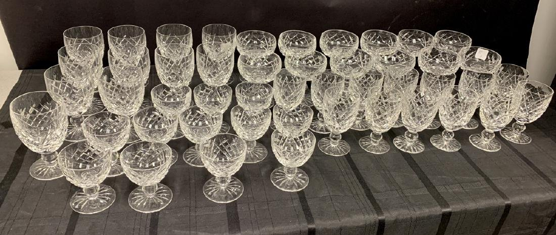 45 Pieces Waterford Crystal Stemware.  12 Stems Ht.  4