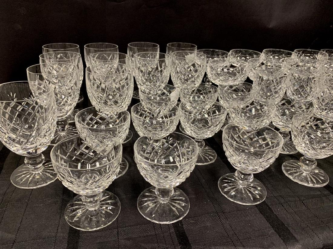 45 Pieces Waterford Crystal Stemware.  12 Stems Ht.  4 - 3