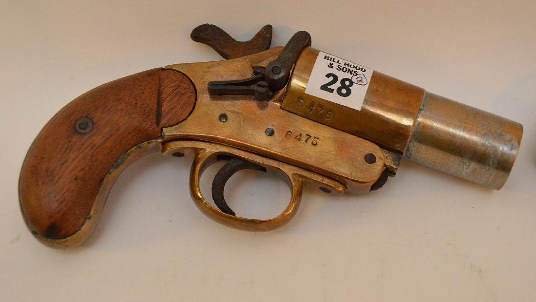 Antique Flare gun Scharmulys - Sold with 5 Shot - 2