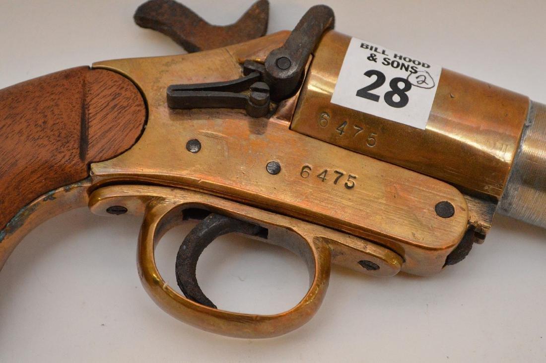 Antique Flare gun Scharmulys - Sold with 5 Shot - 4