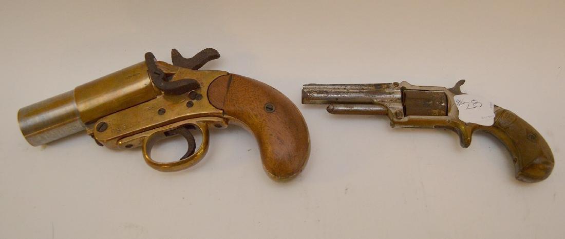 Antique Flare gun Scharmulys - Sold with 5 Shot - 6