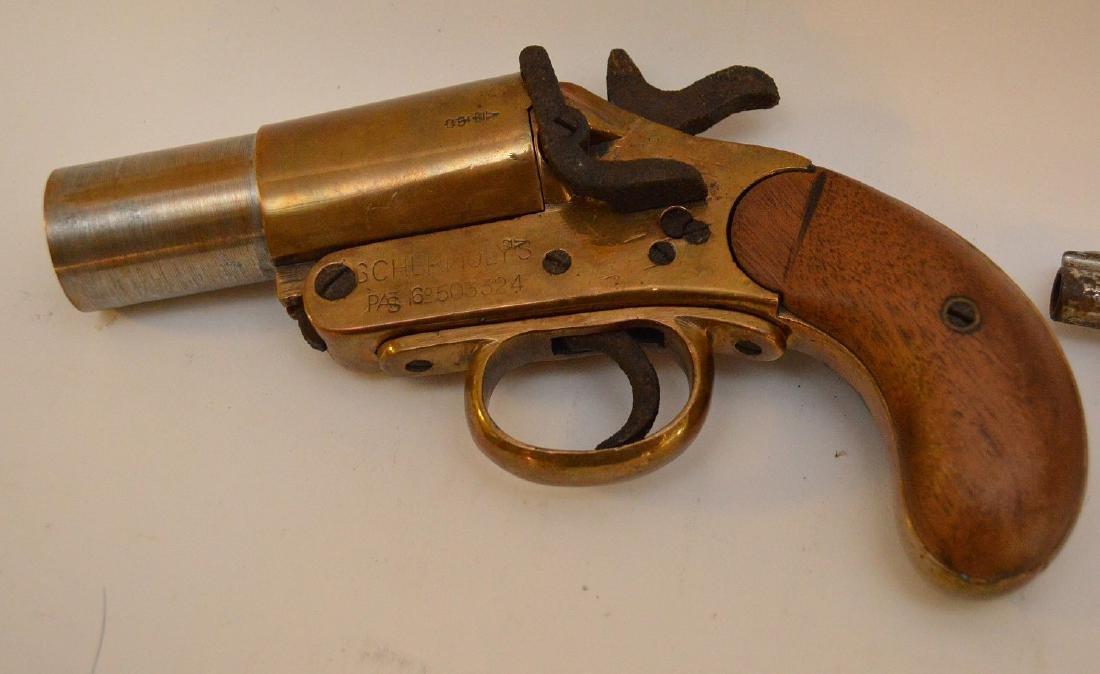 Antique Flare gun Scharmulys - Sold with 5 Shot - 7
