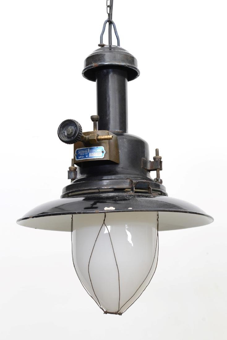 Industrial Gas Pendant Origin: ItalyCirca: 1950
