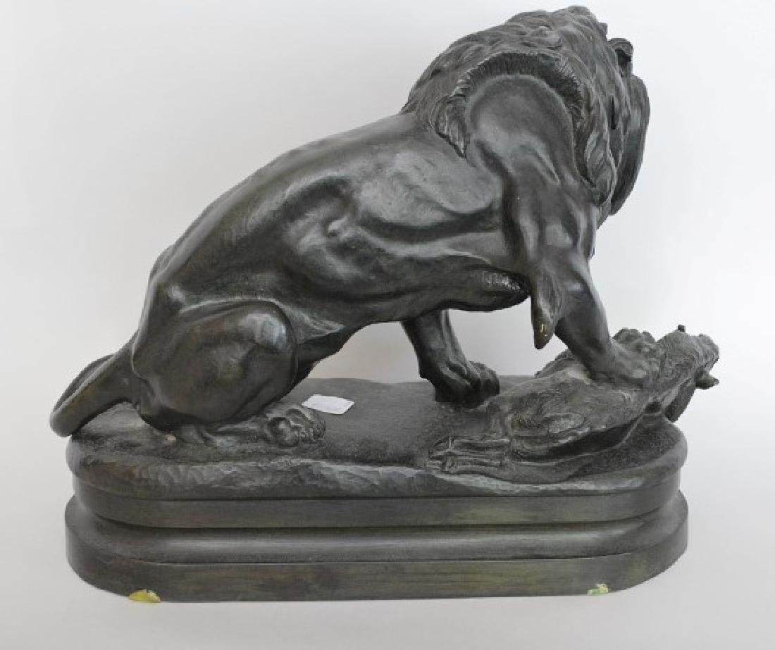 After Alfred Barye (FRENCH, 1839–1882) Bronze Lion - 5
