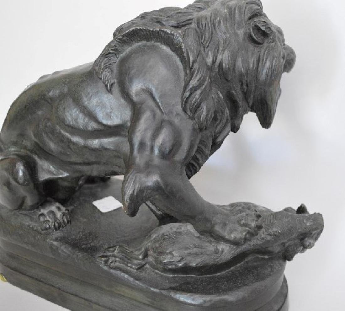 After Alfred Barye (FRENCH, 1839–1882) Bronze Lion - 6