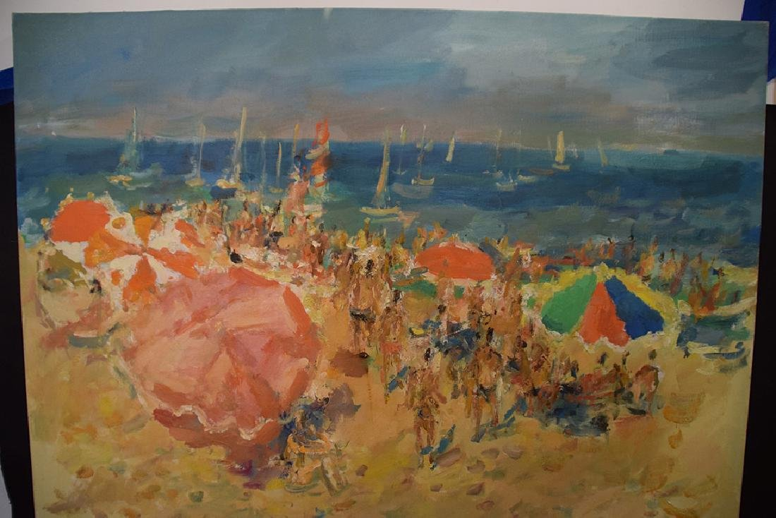 20th Century French Large oil on canvas NOIRMOUNTIERS- - 3