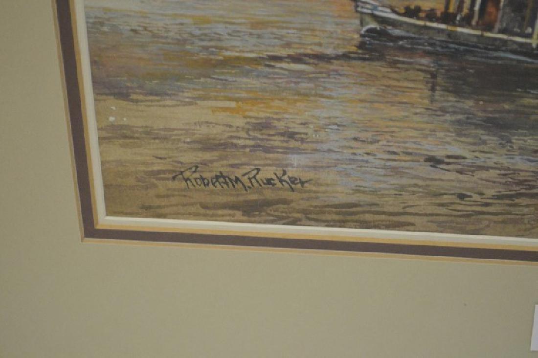 Robert Rucker (American 1932 - 2001) watercolor, - 4