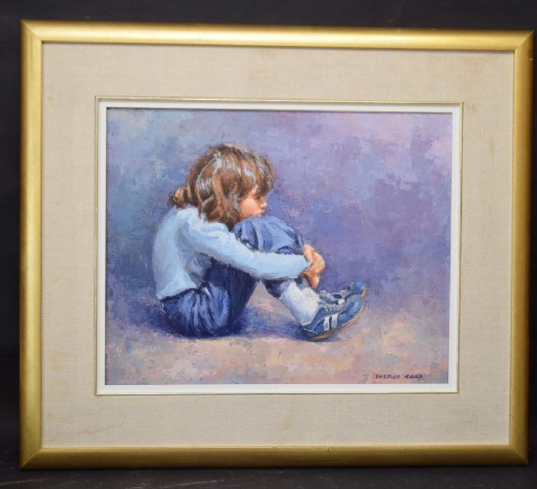 Lucelle Raad (Am. born 1942) oil on canvas, Young Girl,