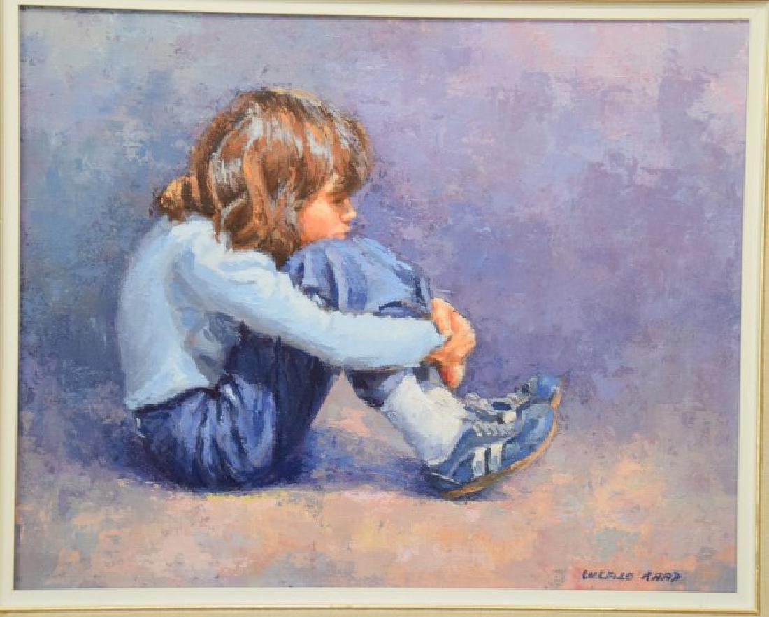 Lucelle Raad (Am. born 1942) oil on canvas, Young Girl, - 2