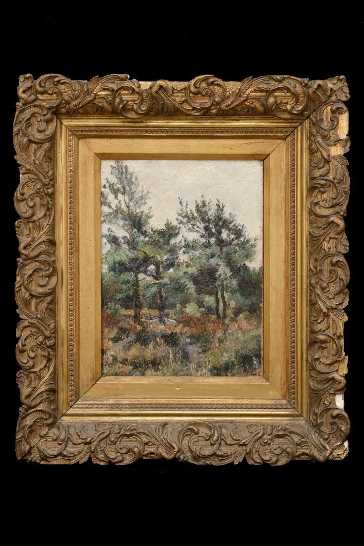 Belgium School Ca. 1900 Landscape, TREES IN THE FOREST,