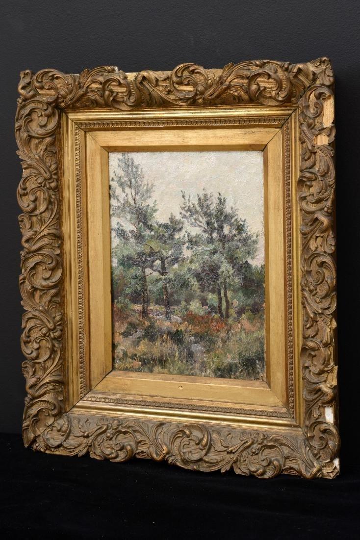 Belgium School Ca. 1900 Landscape, TREES IN THE FOREST, - 2