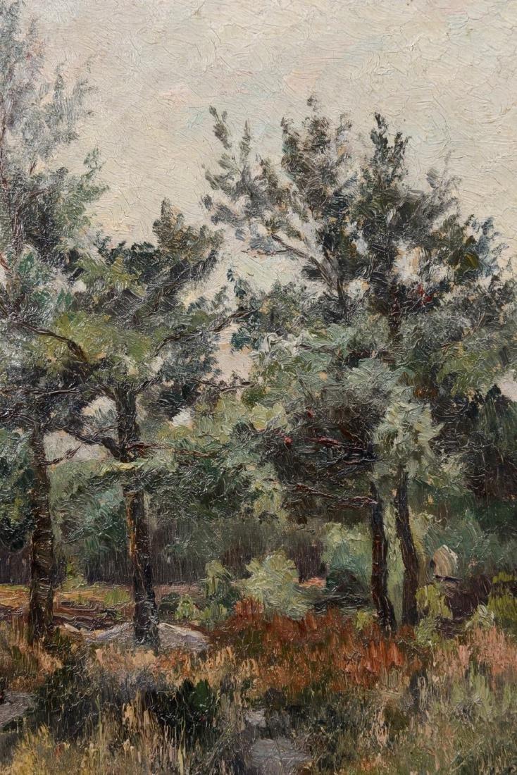 Belgium School Ca. 1900 Landscape, TREES IN THE FOREST, - 4
