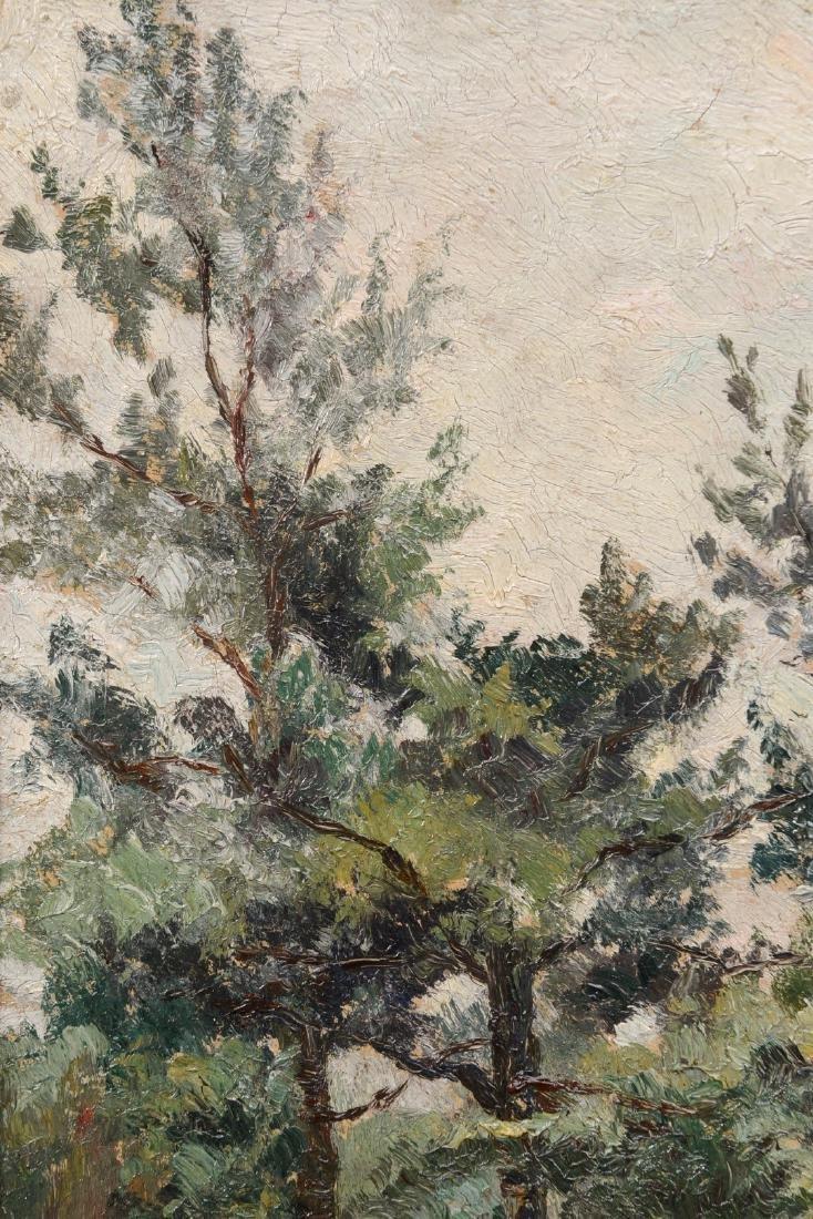 Belgium School Ca. 1900 Landscape, TREES IN THE FOREST, - 8